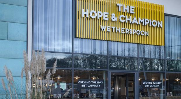 Pub chain JD Wetherspoon said its Hope And Champion will be open at junction 2 of the M40 in Beaconsfield, Buckinghamshire