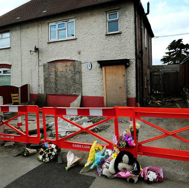 Mick Philpott's house, where the six children died in the fire on May 11 2012