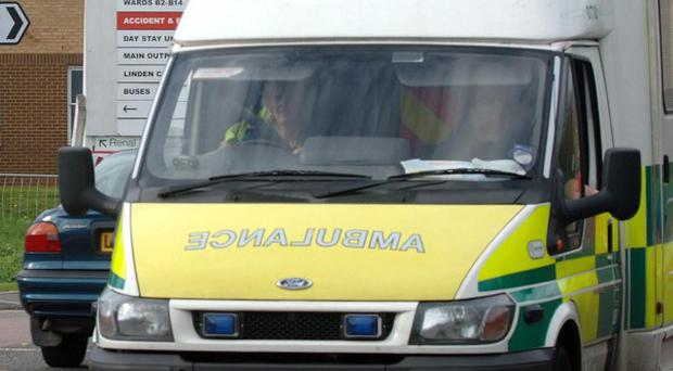 Ambulance officials said three people had a 'miraculous' escape from a car crash