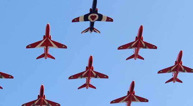 The RAF investigated reports of an affair between two members of the Red Arrows display team in 2011