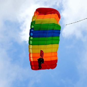 Police said the woman's main parachute failed to deploy