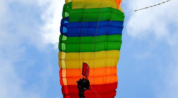 A man badly hurt in a parachuting accident is recovering in hospital in New Zealand