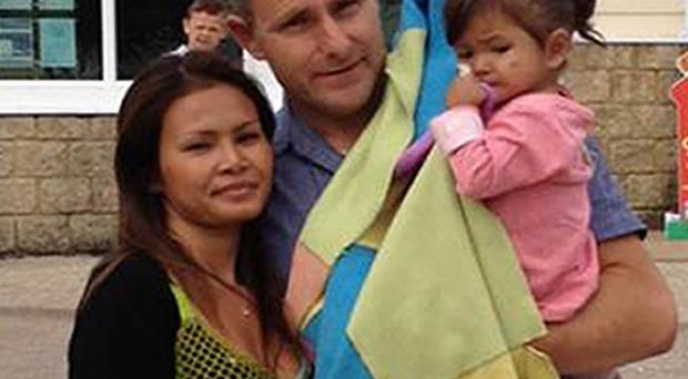 Yupa and Nick Pugh with their three-year old daughter Tia, who has an extremely rare form of immune deficiency