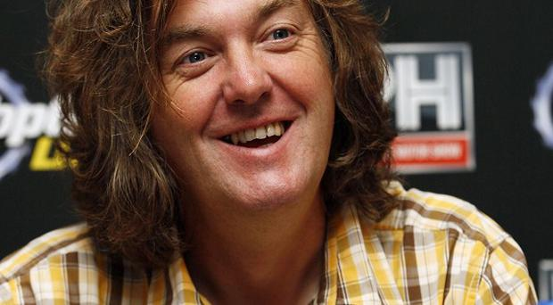 Top Gear's James May is visiting troops in Afghanistan for a film about the military vehicles used by the forces