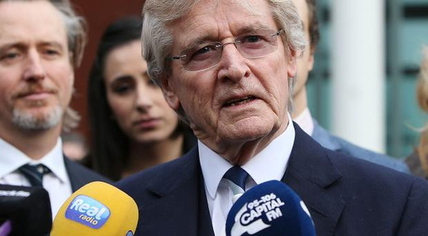 Bill Roache speaks to the media outside Preston Crown Court, after the end of the trial when he misheard the verdict of the jury