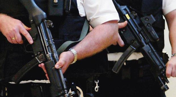 Anti-terror police are searching a house in West Sussex