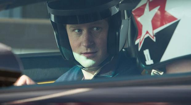 Prince Harry in the driving seat of a Lamborghini Gallardo at the Goodwood Motor Circuit in Chichester, West Sussex, where he was attending a track day for The Endeavour Fund