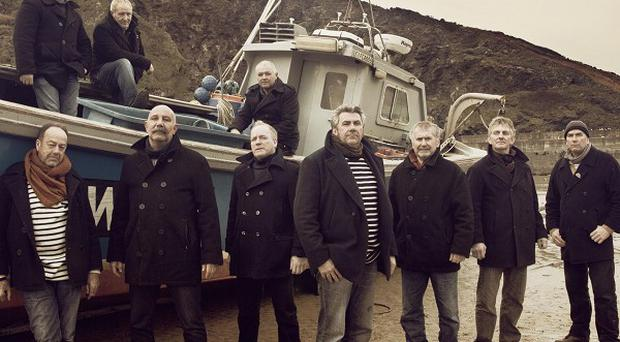 The Fisherman's Friends performed for the first time since the deaths of band member Trevor Grills and tour manager Paul McMullen last year (Universal Music Group)