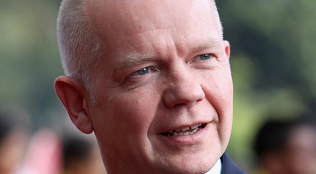 William Hague has vowed support for a new government in Ukraine.