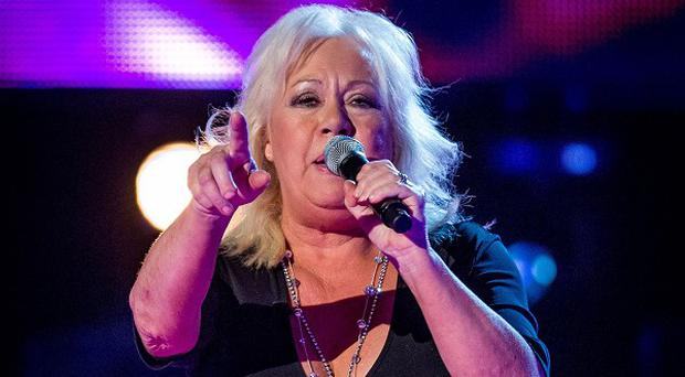 Teresa Vasiliou sang a song she had written for her music idol and the Voice judge Sir Tom Jones (BBC/PA)
