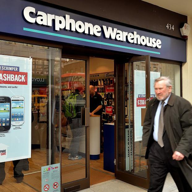 Carphone Warehouse: Overall, it's estimated that around 45% of all mobile phone users have smartphones.
