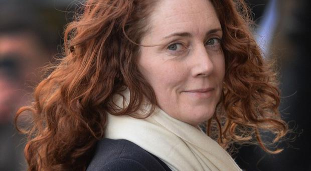 Rebekah Brooks arrives at the Old Bailey in London.