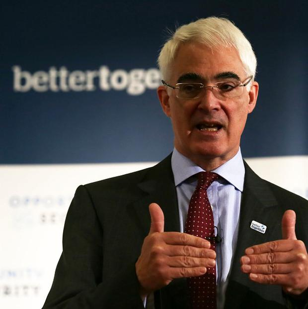 Alistair Darling said Alex Salmond's
