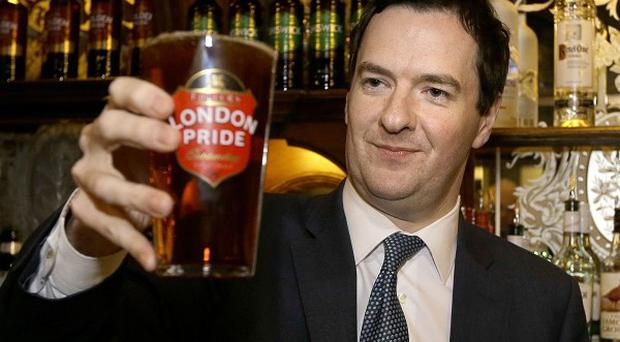 The Chancellor was named Beer Drinker of the Year last year for scrapping a planned 3p rise in beer duty