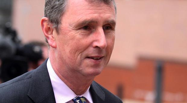 Nigel Evans arrives at Preston Crown Court where he faces nine charges of sexual offences against seven men