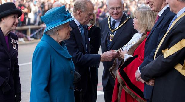 The Queen and Duke of Edinburgh arrive at Royal Holloway, University of London