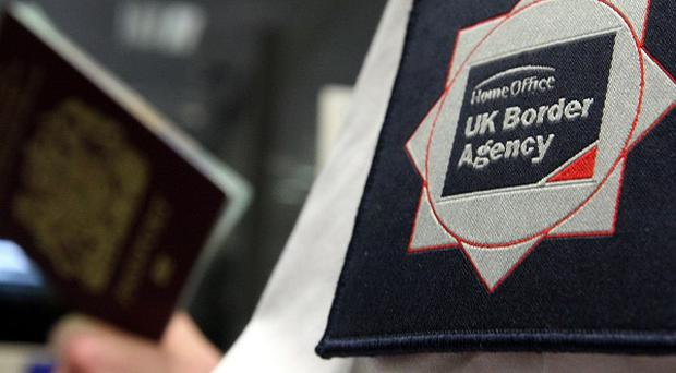 Theresa May claimed passport checks may be required between Scotland and England