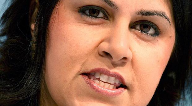 File photo dated 05/03/11 Baroness Warsi has joined complaints about the concentration of the privately-educated at the heart of British politics, saying Michael Gove had been