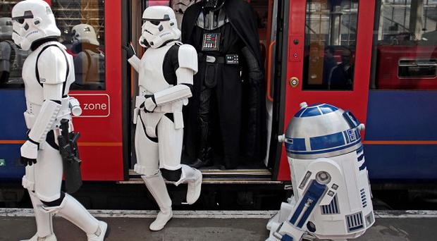 R2-D2 (right) is to feature in the new Star Wars film.