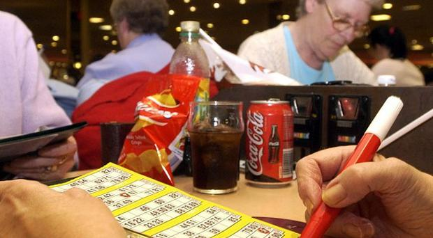 The Chancellor announced bingo duty will be halved to 10 per cent