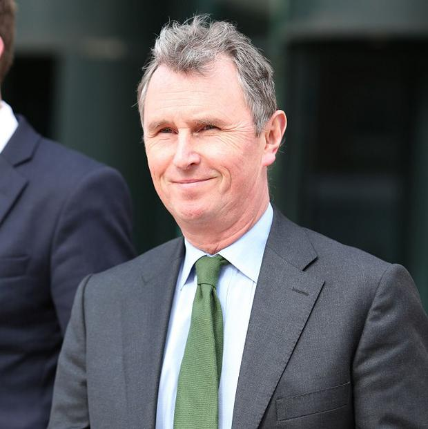 Former deputy speaker of the House of Commons Nigel Evans outside Preston Crown Court