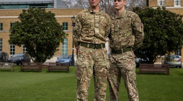 Lance Corporal Simon Moloney, left, and Lance Corporal Wesley Masters have been recognised for their bravery
