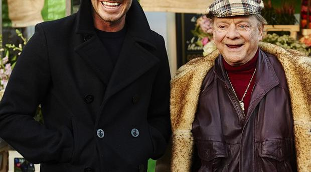 David Beckham and Del Boy (Sir David Jason) got together for Sport Relief.