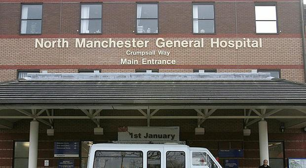 The shot man was dropped at North Manchester General Hospital