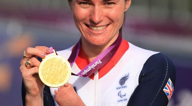 Paralympic champion Dame Sarah Storey has been named Celebrity Mum of the Year
