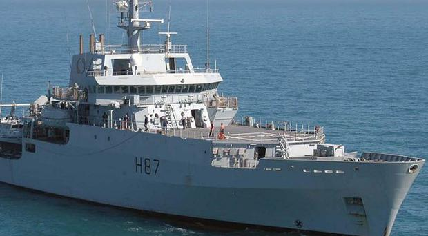 Survey ship HMS Echo is helping search for the wreckage of Malaysia Airlines flight MH370 (Royal Navy)