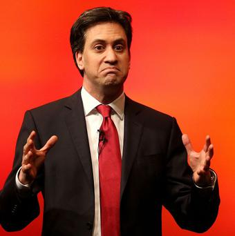 Labour leader Ed Miliband during a speech.