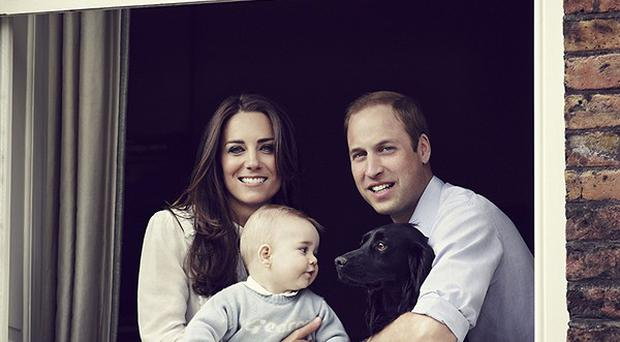 The Duke and Duchess of Cambridge with their son, Prince George. (Jason Bell/Camera Press /PA)