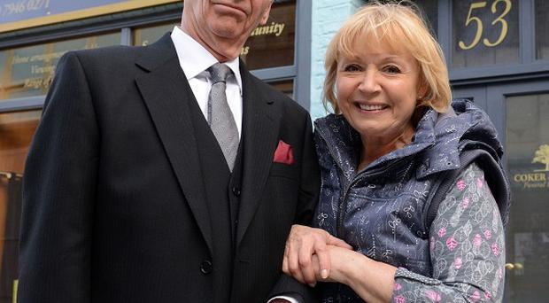 Les Coker (Roger Sloman) and Pam Coker (Lin Blakley), who are joining EastEnders as undertakers.