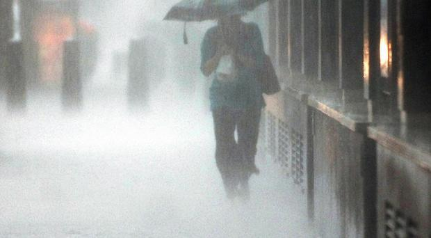 Easter Sunday threatens be a washout after forecasters warned that the current warm and dry spell could come to an abrupt end.