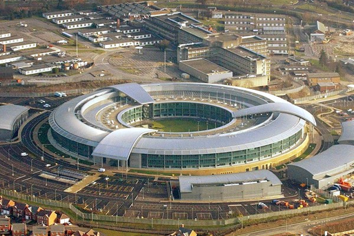 The Government Communication Headquarters (GCHQ) building on the west of Cheltenham
