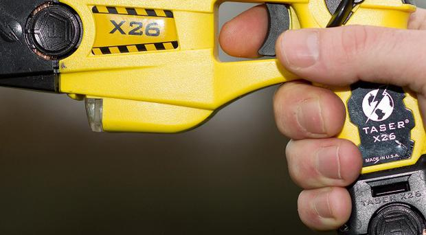 Police are investigating an incident involving the alleged threat to use a Taser against a hospital patient