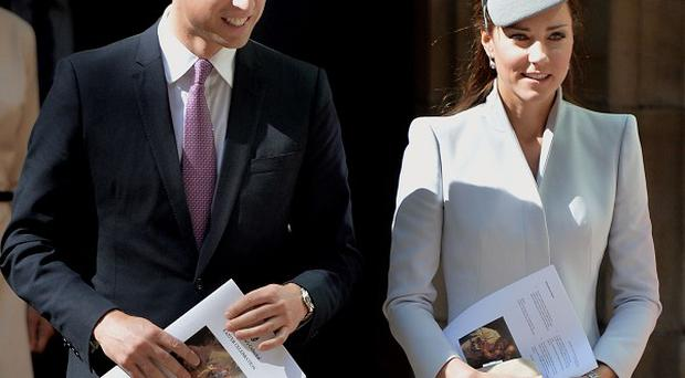 The Duke and Duchess of Cambridge leave St Andrew's Cathedral in Sydney