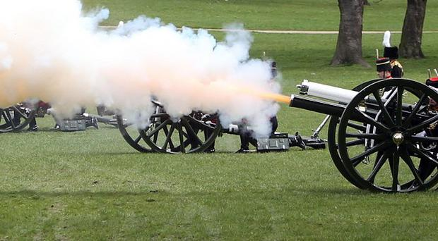 Gun salutes will mark the Queen's birthday