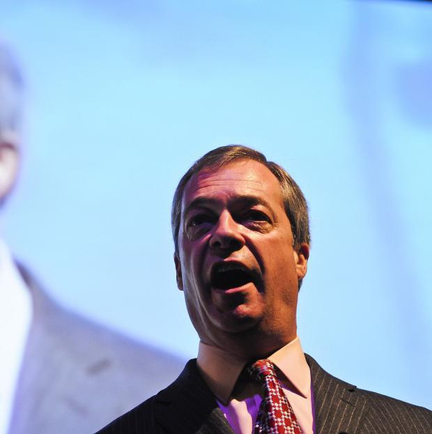 Ukip leader Nigel Farage has apologised over a party election broadcast