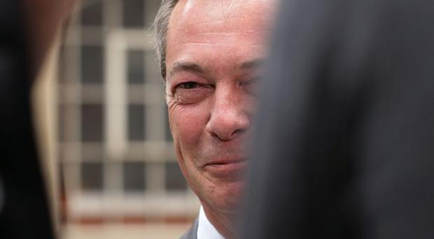 Nigel Farage's Ukip leads an opinion poll less than a month before the European elections.