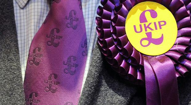 Ukip has surged into the lead in the European election contest despite a bruising week of controversies, according to a poll.