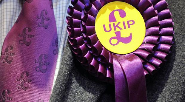 The survey found 29 per cent of people in England intend voting for Nigel Farage's party