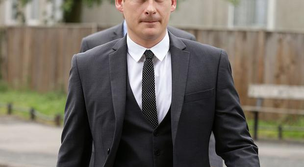 Blue star Lee Ryan arrives at Ealing Magistrates' Court in west London