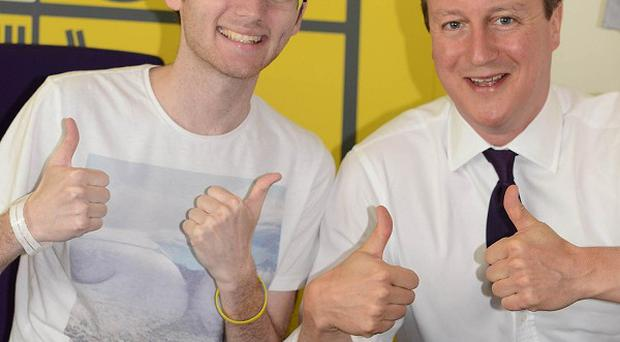 Stephen Sutton was discharged from hospital hours after meeting David Cameron