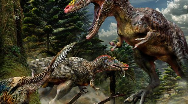 An artist's impression of the dinosaur (Chuang Zhao/PA Wire)