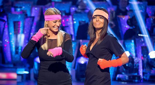 Claudia Winkleman (right) has been promoted to join Tess Daly on Strictly Come Dancing as co-host following Sir Bruce Forsyth's decision to step down.