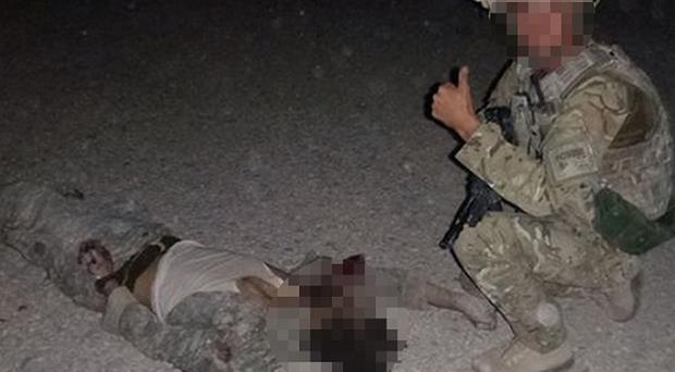 Photograph from the Live Leak website taken by members of No. 51 Squadron RAF Regiment of the aftermath of the Taliban attack on Camp Bastion.