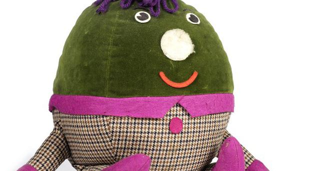 The Humpty doll, valued at £1,200, was one of three made for the BBC's Playschool (Bonhams/PA)