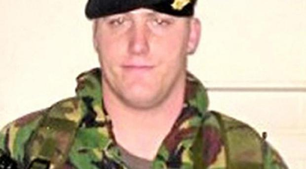 Private Robert Wood, who along with Private Dean Hutchinson, died in a fire that engulfed their tent as they slept at Camp Bastion, an inquest in Salisbury, Wiltshire has heard (Ministry of Defence)
