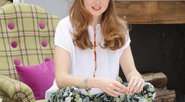 Lily Cole at House of Fraser's garden during the press day at the RHS Chelsea Flower Show